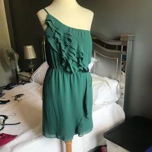 Adorable one shoulder chiffon summer dress